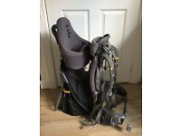 Vaude baby carrier ideal for taking little ones where the push chair won't go.
