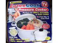 Eazee Cook Presure Cooker and Microwave steamer.