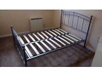 Metal frame double bed excellent condition