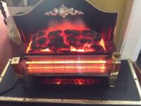 Electric fire heater with stand