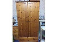 one double wardrobe with drawer
