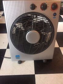 Portable fan, air-circulator, ioniser with heating option
