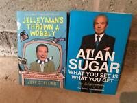 Alan sugar and Jeff Stelling books