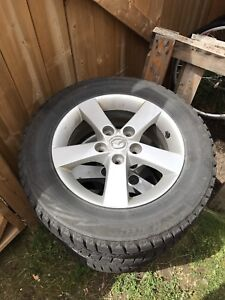 Winter tires with alloy rims - 114.3 5 bolt 195/65R15
