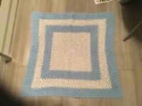 3 Crocheted Baby Blankets Various Sizes