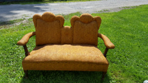 Vintage Loveseat and chair