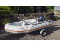 Valiant D300 Rib with Yamaha 15 HP 4 stroke Electric Start Outboard