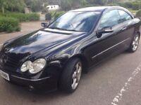 Merc CLK 2.7Diesel, Auto, Diamond black, 2 Door Coupe, 160K miles, Service History