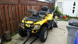 2012 Can Am Outlander XT max 2 up seat