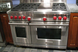"""Wolf 48"""" gas range, new, stainless steel, convection"""