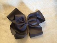*New* 6 inch Grey Hair Bow