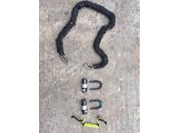 Motorcycle Lock oxford heavy duty pad Lock and chain