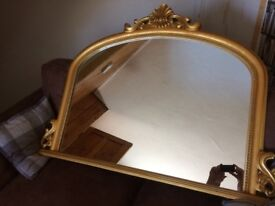 Golf framed mirror for lounge, hall or bedroom. New condition. Great centrepiece for a room.