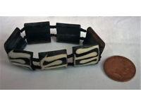 real bone panel bracelet