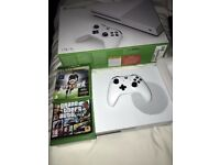 Xbox One S - 1Tb Console - Great condition with box and Games