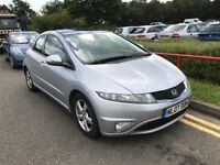 2007 HONDA CIVIC 2.2 I-CTDI ES 5 DOOR HATCHBACK SILVER GREAT DRIVE 5 SEATS TOP SPECS NO ACCORD AURIS