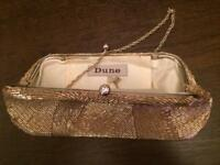Dune clutch bag gold