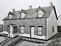 original drawing/picture of houses in hale, liverpool
