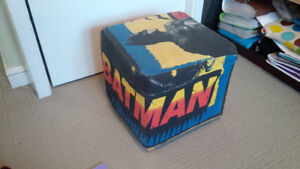 foot stool or seat with batman cover