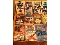 Jack Higgins 150+ books - paperback/hardback all in protective jackets early editions