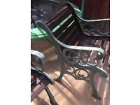Garden Cast Iron bench and chair