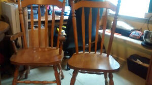 Solid Oak Chairs