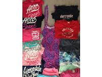 Selection of shorts and T shirts. Size 6/8/10