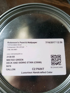2 gallons misted green c2 paint