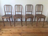 Vintage Thonet Mundus Kohn Bentwood Cafe Bistro Dining Chairs x 4