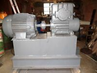 37 KILOWAT THREE-PHASE ELECTRIC MOTOR & GEARBOX WITH REDUCER; £495 (ONO); KILKEEL, COUNTY DOWN