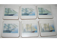 6 Place Mats and 6 Coasters - Sailing Ships Design by Portmeirion