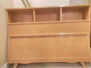 Bookcase bed - Antique 4pc (solid wood - full/double)