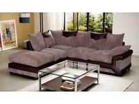 Jumbo Diano CORD FABRIC CORNER SOFAS AND 3 AND 2 SEATTER SUITES
