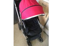 Oyster 2 pram with carrycot in red, foot muff, maxi cost car seat adaptors, no time wasters please