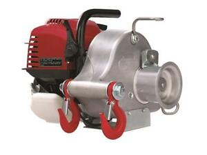 Gas Powered Portable Winch with Honda Engine