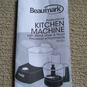 Kitchen Machine with Stand Mixer & Food Processor Attachments
