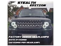 X2 LEFT COMPLETE H.DRIVE Land Rover Discovery Series 3 L319 2004-2009 FULL HEADLAMPS STEALTH EDITION