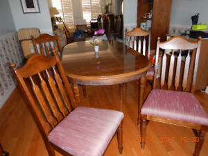 Dining Room table and Secretary/Hutch