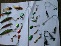 Fishing lures and traces