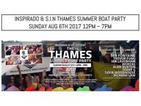 2 x House Music Boat Tickets on the Thames for sale (featuring Seb Fontaine) - Sunday 6th Aug 12-7pm