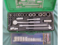 Draper Green Line 25 pc Socket Set & 14pc Sealey TRX Star set.