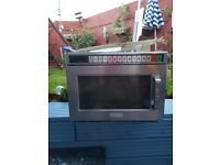 catering industrial microwaves x3
