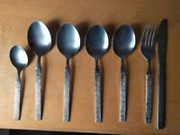 Rare Viners Rain (similar to Sable) Cutlery - 7 pieces