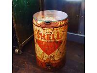 Vintage Oil Drum Table