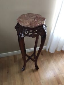 ANTIQUE CARVED ROSEWOOD STAND