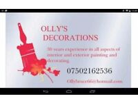 Olly's Decorations professional painter and decorator
