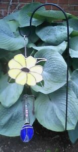 garden stained glass windchime ornament
