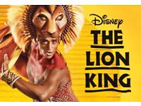 Lion King theatre tickets.