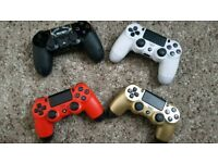 PS4 (PlayStation 4) controllers - RED, WHITE, GOLD & BLACK - £30 each