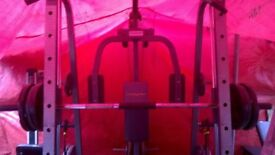 bodymax weight traing fitness multi gym and 140ks of steel weights
